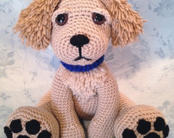 Golden Retriever Pouty Puppy Amigurumi PATTERN