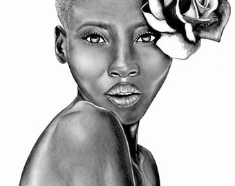 Large Art Print - Uzuri - The Beauty Collection