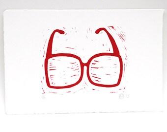 Bril linosnede, linocut eye glasses, brillen, fashion accessories, 6 different models