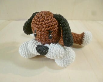 Handmade Amigurumi crochet doggie, gift ideas, gadgets, padded toy, unique piece, made in Sicily, knited toys