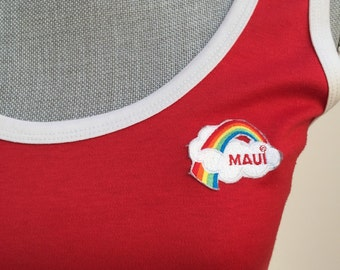 Retro Maui Rainbow 70's tank shirt