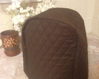 Brown Food Chopper Cover Quilted Fabric Small Appliance Covers Dust Cover Ready To Ship