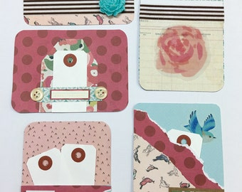 Handmade project life or pocket scrapbooking cards