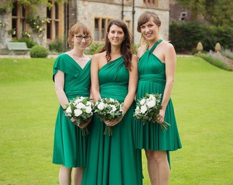 Cambria Pines Emerald -Long Maxi Octopus Convertible Infinity Wrap Maxi Dress- Bridesmaids, Weddings, Prom