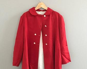 Vintage Size 6X Lightweight Red Spring Coat