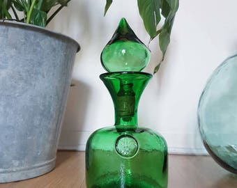 Bottle green style glass dome - decor gift