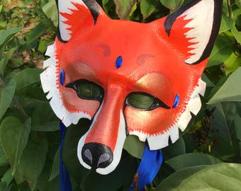 Fox Leather Masquerade Mask
