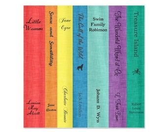 Bright Classic Book Lovers for Boys & Girls Shower Curtain - Bathroom Kid's Children's