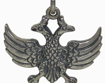 Double Headed Eagle Silver Pendant - Byzantine Empire