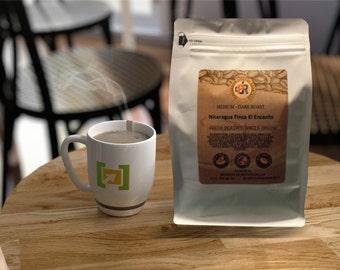 NICARAGUA FINCA el ENCANTO | 100% Fresh Roasted Coffee Beans | Medium - Dark Roast | Whole Bean or Ground | 12 oz.