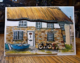 3D Blank card -Holiday cottage