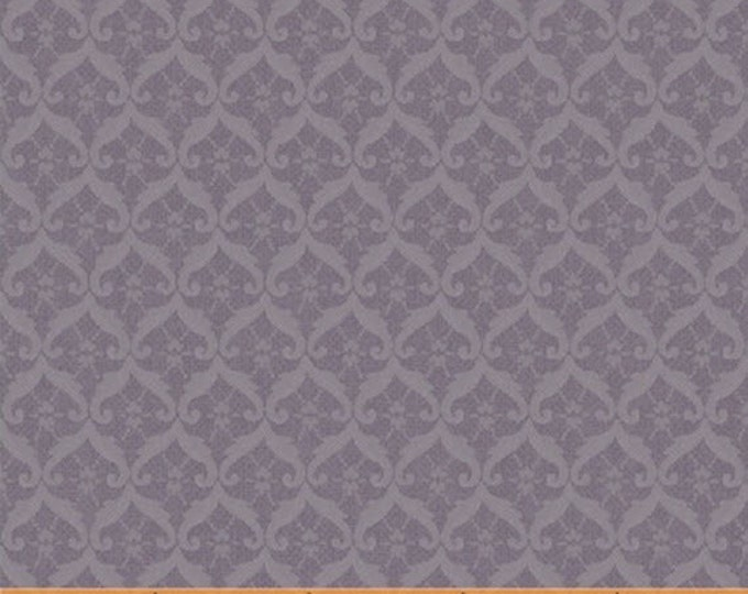 Half Yard Chambray Rose - Small Damask in Lavender Purple - Cotton Quilt Fabric - Nancy Gere for Windham Fabrics - 40832-3 (W3445)