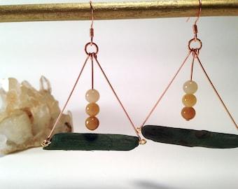 Driftwood Trapeze earrings