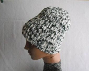 Knit Hat. . Womens Winter Hat. wool mix.winter accessory.