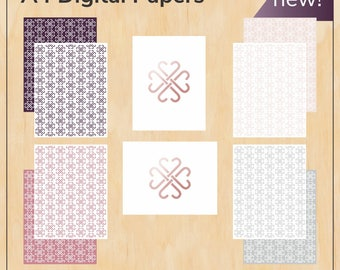 A4 sized wrapping paper bundle - Jamberry - Digital PDF file