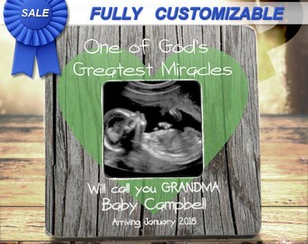 Pregnancy Reveal To Grandparents Frame Pregnancy Announcement Gender Reveal Ultrasound Sonogram Picture Frame Grandparents To Be Gift Frame