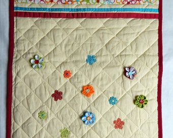 Quilted decor flowers baby blanket