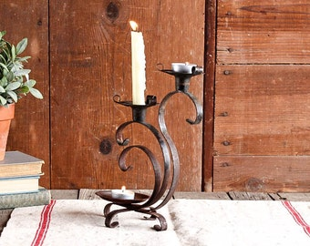 Vintage Candle Holder, Rustic Candle Holder, Votive Candle Holder, Rustic Wedding Decor, Rustic Christmas Centerpiece, Gothic Candlestick