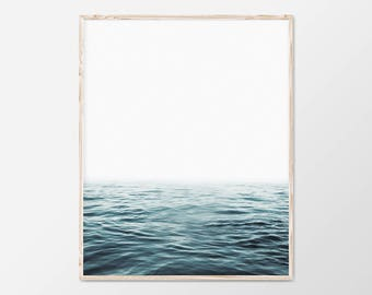 Coastal Wall Art, Ocean Print, Minimalist Print, Large Coastal Decor, Coastal Decor, Large Beach Wall Art, Ocean Photography Wall Art, 18x24