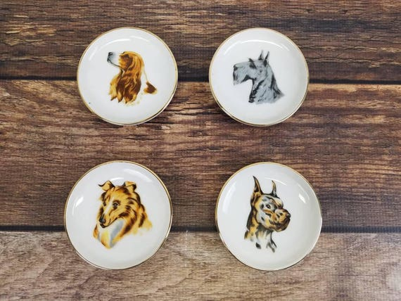 Like this item? & Set of 4 Vintage Miniature Dog Portrait Collectible Plates