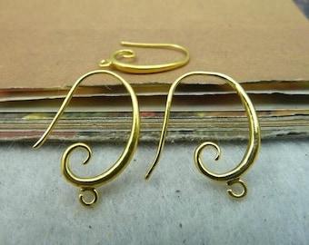 20pcs 14x20mm Gold ear hook