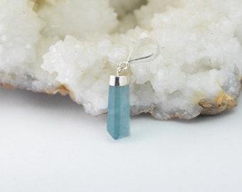 Blue Fluorite, 925 Sterling Silver Pendant