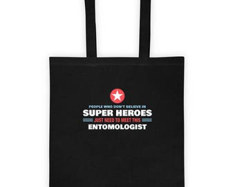 People Meet This Super Hero Entomologist Tote Bag Gift for Entomology Study of Insects Brand of Zoology Birthday