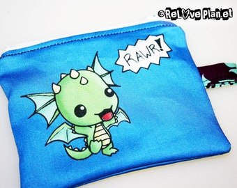 Rawr Dragon Mini Coin Purse Zipper Pouch - Kawaii cute - Wallet - ReLove Plan.et