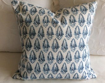 Agave Azure Blue  pillow cover 18x18 20x20 22x22 24x24 26x26 13x26 12x20