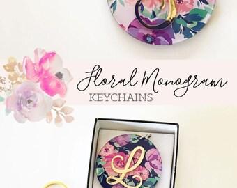 Monogram Gifts for Girls - Gold Monogram Keychains - Gifts for Teen Girls Teenage Girl Gifts for Mom (EB3185) Monogram Gift Ideas