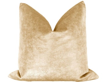 Sueded Metallic Velvet // Gold Pillow COVER ONLY