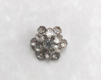 Austria  crystal jewelry starburst brooch pin 1930's fashion accessory hallmarked