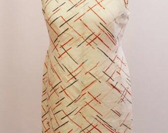 Mothers day gift 1960s Louis Feraud designer shift dress UK vintage size 16. Retro Midi dress