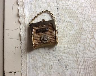 Vintage Mesh Mini Purse Key Chain