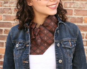 Womens Necktie Scarf - Necktie Necklace - Mothers Day Gift - Hipster Clothing - Brown Lauren Scarf. 10