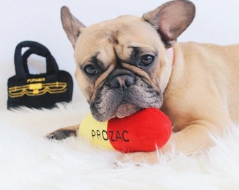 Pill and Bag Squeaky Dog Toys