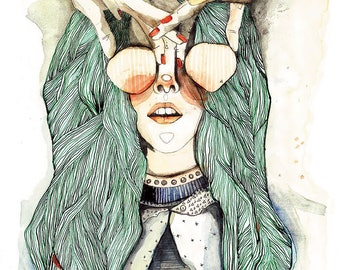 Fashion addicted // 28 x 40 Print