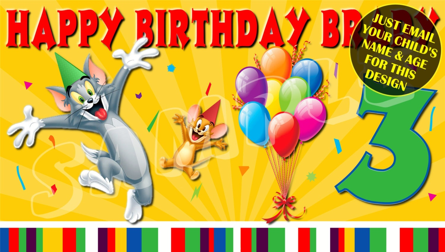Happy Birthday Banner Birthday Banner Custom banners Party