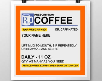Personalized Prescription Coffee SVG
