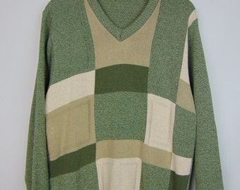 Vintage Green Pattern Jumper