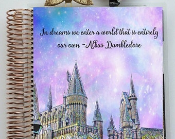 "Planner Cover Set: ""Hogwarts"" 10 Mil Laminated for use with ERIN CONDREN LIFEPLANNER™"