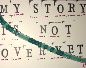 My story is not over yet Morse code bracelet