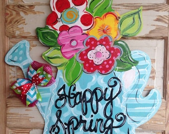 Spring Door Hanger - Summer Door Hanger - Spring Decor - Spring Door Decor - Summer Door Decor - Summer Decor
