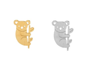 charm pendant animal paresseus Australia koala gilded gold or silver (A73)