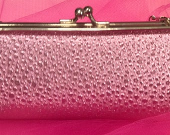 Pretty in Pink-pink Metallic Evening Bag Clutch Evening Bag