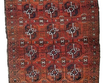 ON SALE 20% Off 3' X 5' ( 92cm X 155cm) hand made antique Afghan Baluch rug 1900