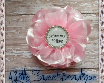 Grandma To Be Corsage Pink Shabby Baby Shower Mom Badge Mommy To Be Corsage Pink Baby Shower