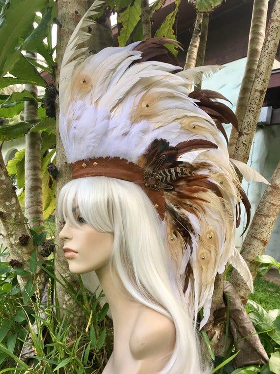 The Visionary V2  - Customizable Feather Mohawk / Headdress