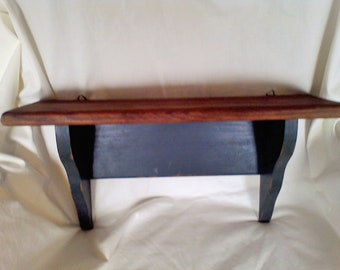 Wall shelfs, hand made, solid wood, wall decor Plate holder 18x9x5.5 inches