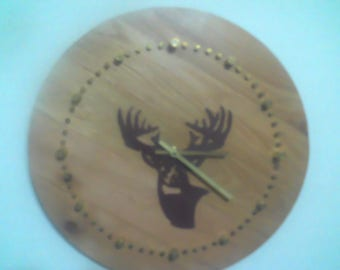 Bullet Casing Deer Clock